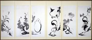 Image of Figures, Birds and Flowers, Sumi