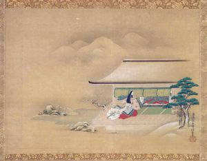 Image of A Palace Scene in Snow