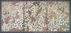 Image of Plum Blossoms, Left Screen