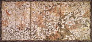 Image of Plum Blossoms, Right Screen