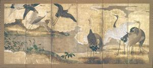 Image of Cranes Early Edo, Right Screen