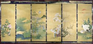 Image of Kano Meiji Screen