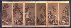 Image of Flowers, Right 6 Panel Screen