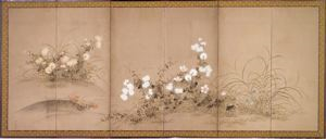 Image of Flowers Single 6 Panel Screen