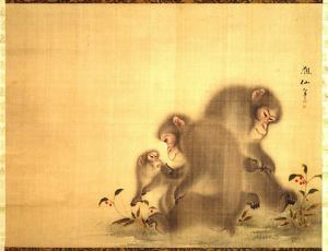 Image of Three Monkeys and Berry