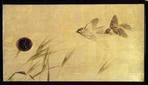 Image of Sparrows, Left Panel