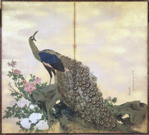 Image of Peacock 2 Panel Screen
