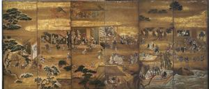 Image of Autumn and Winter 6 Panel Screen, 2 Panels missing