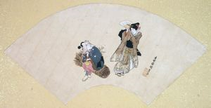 Image of Album of Twelve Months (Geisha and Worker)