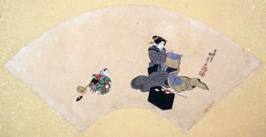 Image of Album of Twelve Months (Geisha with Child)