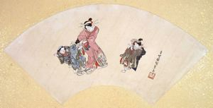 Image of Album of Twelve Months (Geisha Playing Game)