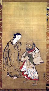 Image of Daruma and Courtesan