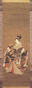 Image of Geisha and Two Attendants
