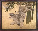Image of Tiger in Bamboo in Moonlight
